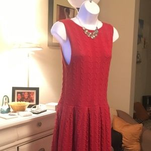 Red Dress from Anthropologie